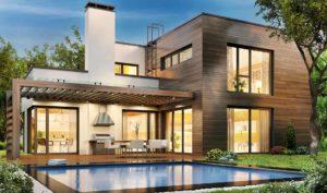 Casa con porche y piscina