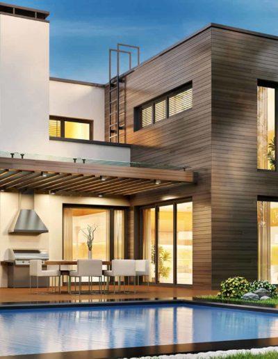 Casa porche y piscina